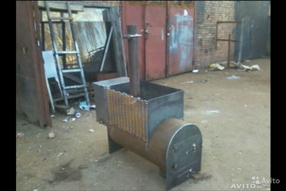 Печка из трубы печка для бани своими руками