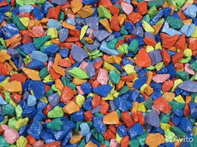 Цветной декоративный щебень купить в Краснодарском крае на Avito ...