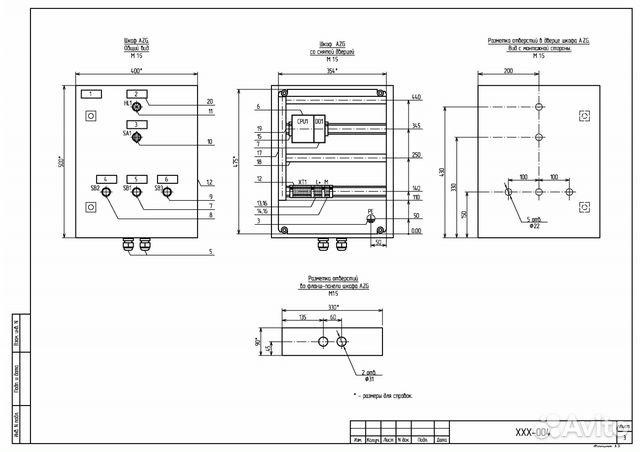 Схемы, чертежи в Autocad в