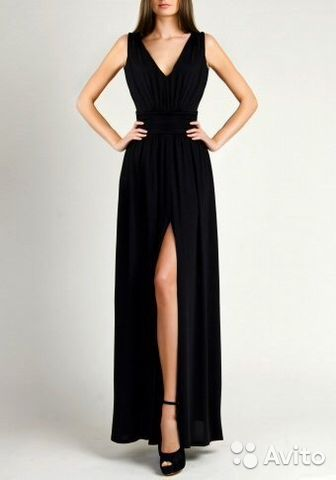 Лав репаблик длинное черное платье
