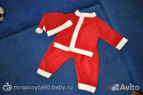 Костюм санта клауса для малыша своими руками с выкройкой