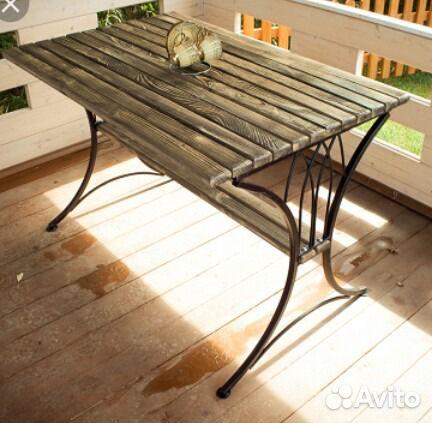Дачный стол из металла 172