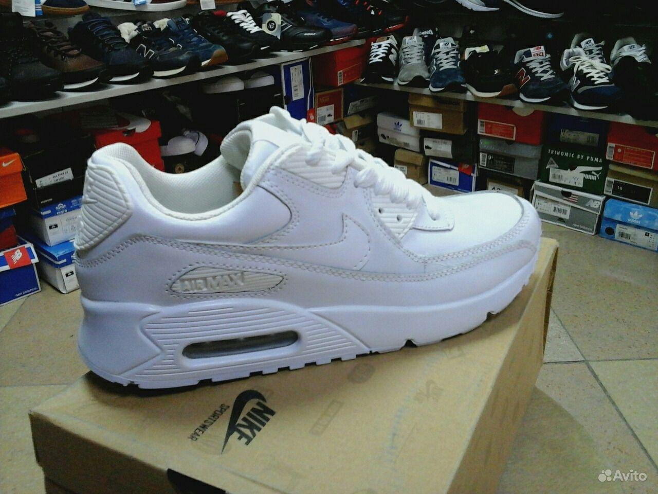 61e00336 Классные кроссовки Nike Air Max 90,белые | Festima.Ru - Мониторинг ...