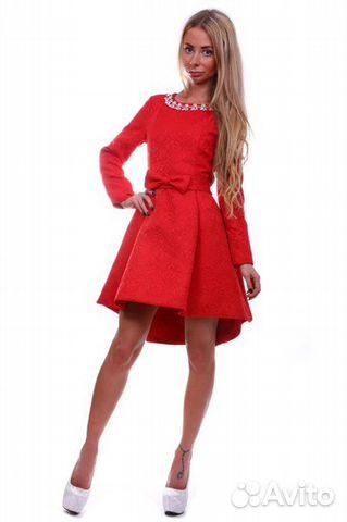 d13a4b592ea Платье красное с пышной юбкой купить в Санкт-Петербурге на Avito ...