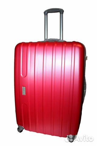 Новый пластиковый чемодан на колесах, розовый купить в Москве на ... af7abaf2cdf