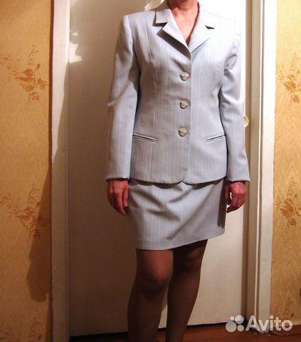 Костюм голубого цвета женский с доставкой