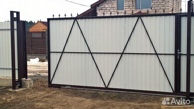 Ворота 8м профильная балка для сдвижных ворот