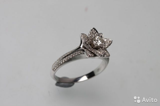 Кольцо 145 бриллиантов из белого золота 585 пробы купить в Санкт ... 7fda3ed6ef7