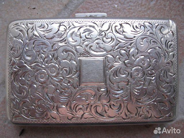 Портсигар, серебро | Столовое серебро | магазин