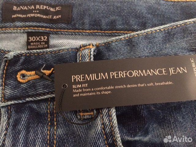 04b876a2251 Новые мужские джинсы Banana Republic 30х32