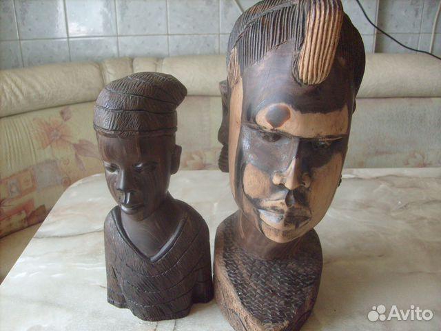 Две статуэтки. Черное дерево. Африка 70 - е года 89087998445 купить 9