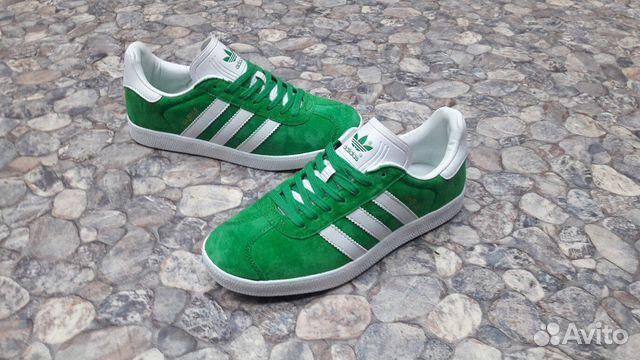 Кроссовки Adidas Gazelle зеленые мужские газели купить в Москве на ... 74fdc4466ab