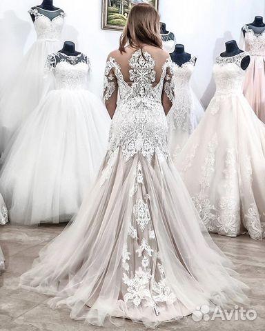 ea3b8ce7886 Свадебное платье Pudra шлейф купить в Ростовской области на Avito ...