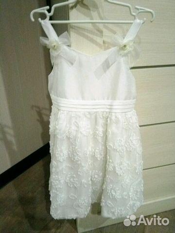 Платье 116-122 состояние нового 89137851946 купить 1