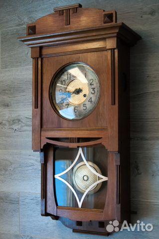 Часы настенные Gustav Becker, старинные. 1912 г купить 3