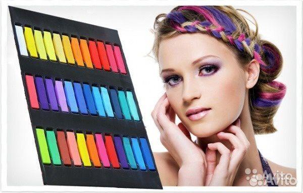 84942303606  Мелки для волос 12 цветов