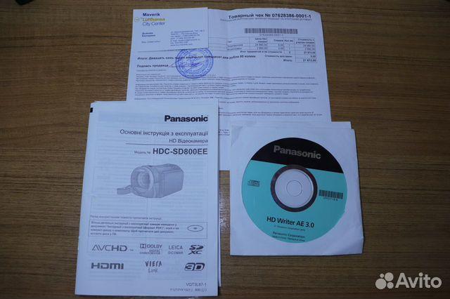 Видеокaмepа Раnаsoniс hdс-SD800 89381477093 купить 6