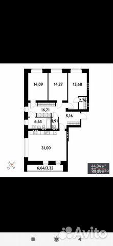 3-к квартира, 111 м², 4/16 эт.  89091850282 купить 1
