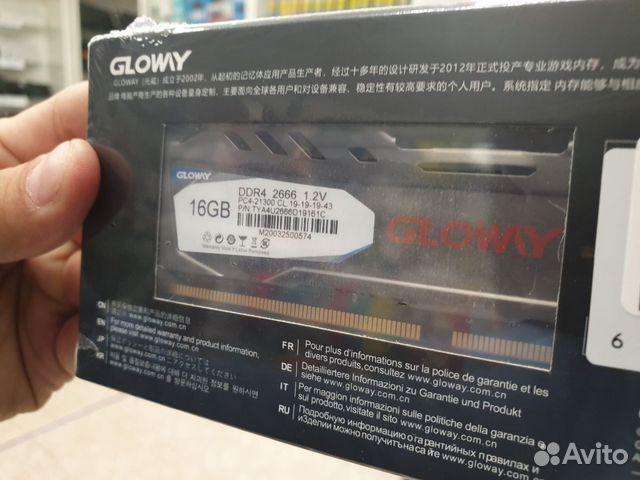 Новая Оперативная память glowy DDR4 16 GB 2666 GHZ купить 9