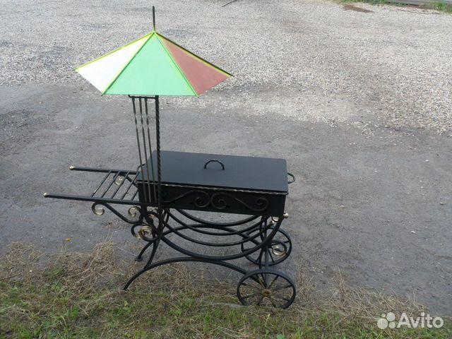 Мангал на колесах с зонтиком  89203488069 купить 3