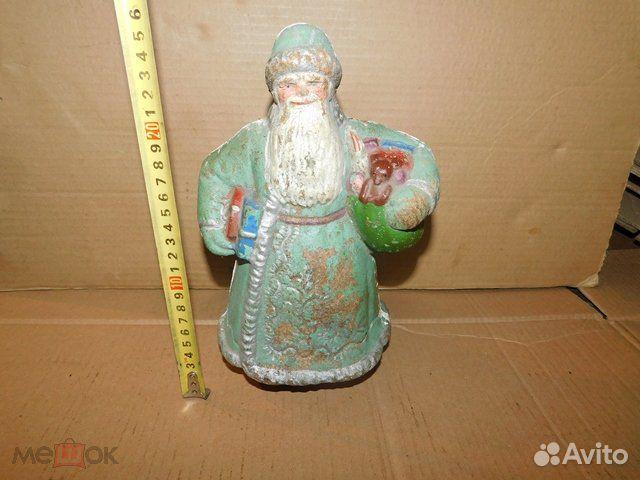 Старинная новогодняя игрушка дед Мороз пресс-опилк  89065103360 купить 8