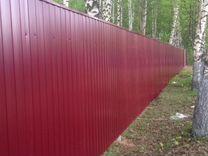 Забор из профнастила 2 метра RAL 3004