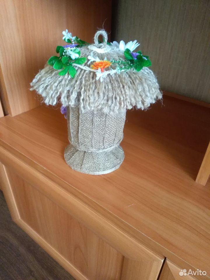 Домик из джута для украшения интерьера  89042052967 купить 5