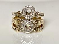 Золотое кольцо с бриллиантами bvlgari