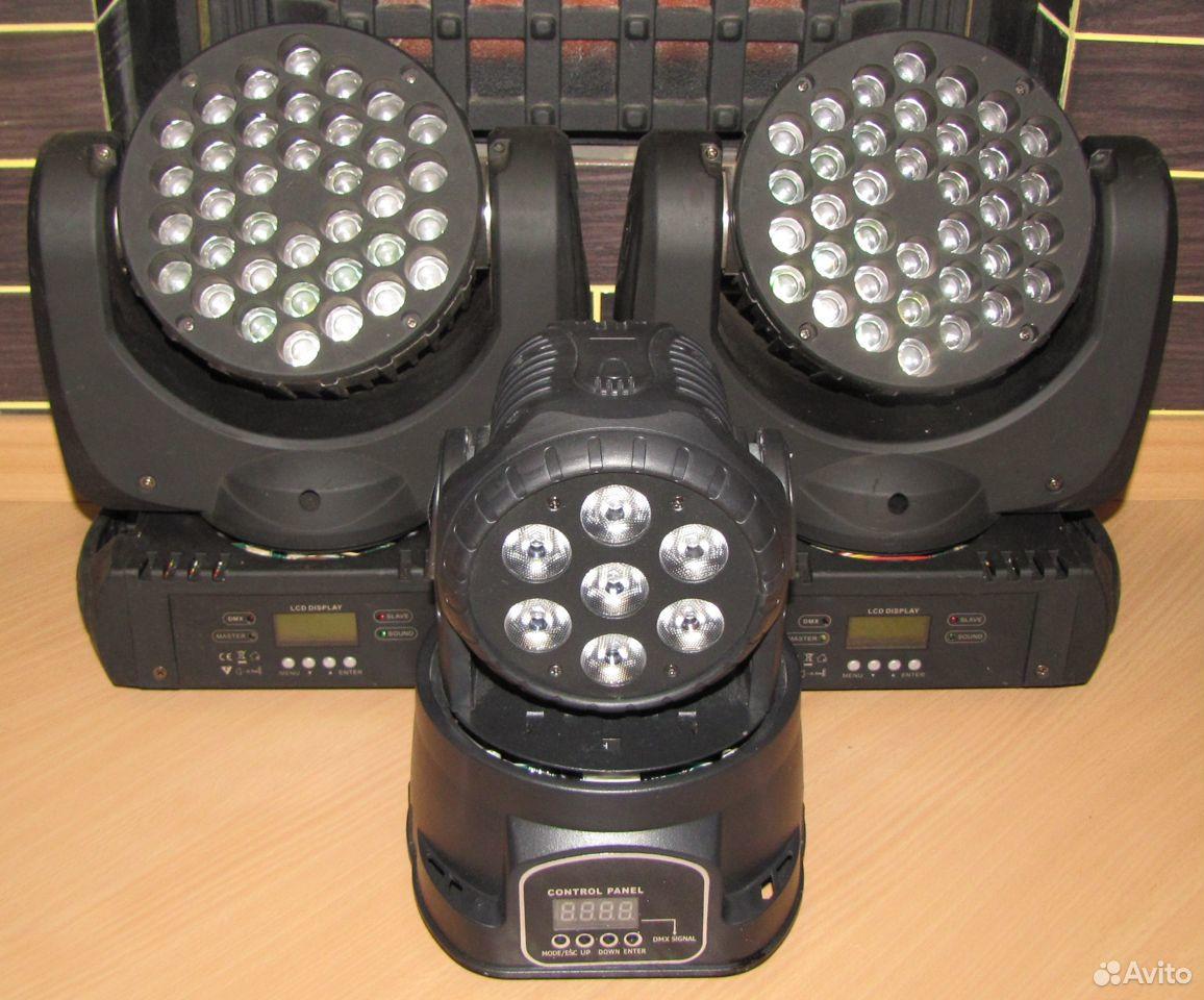 Проф светомузыка 3 вращающиеся головы LED микрофон  89128899109 купить 1