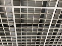 Потолок Грильято, в подвесной системе Армстронг