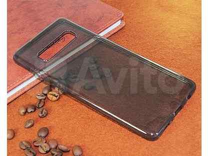 Чехол-накладка для Samsung G975F S10 Plus fashion TPU пакет черно-прозрачный