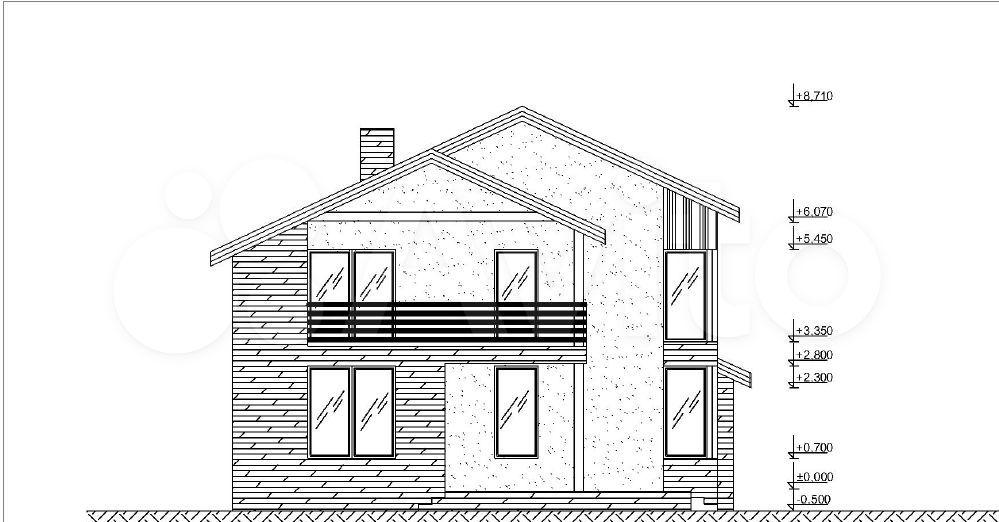 Дом 188 м² на участке 10 сот.  89095718016 купить 3
