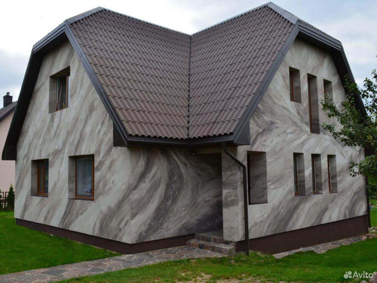 Отделка фасада домов из гибкого камня  89236857665 купить 1