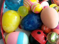Мячики каучуковые, много