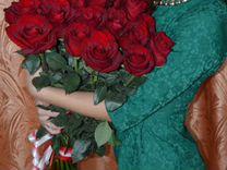 Розы в коробке цветы — Растения в Москве