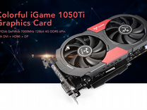 Новая (запечатана) Colorful Geforce GTX 1050Ti 4GB