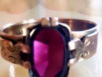 Серебряное кольцо с чешским гранатом