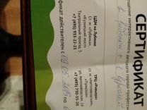 Сертификат в кидбург на взрослого и ребёнка 1 шт