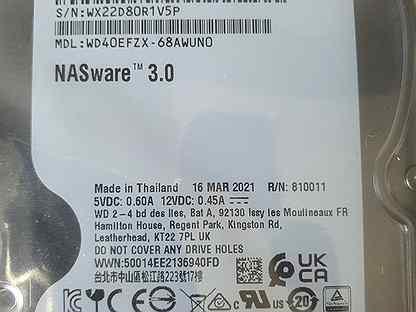 Жесткий диск WD Red Plus 4тб HDD raid Новый
